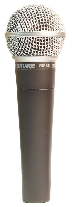 Shure SM-58, A microphone in the PA system